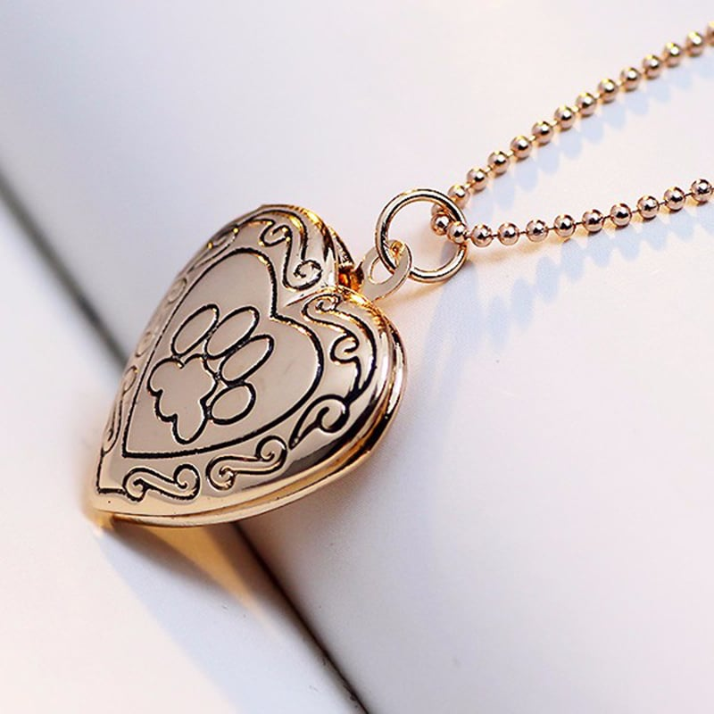 Collier un Coeur de Chat couleur or