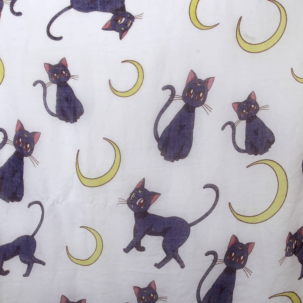 Foulard chat de lune zoom