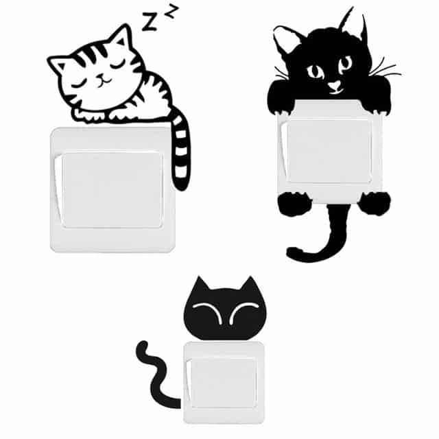 Sticker interrupteur chat