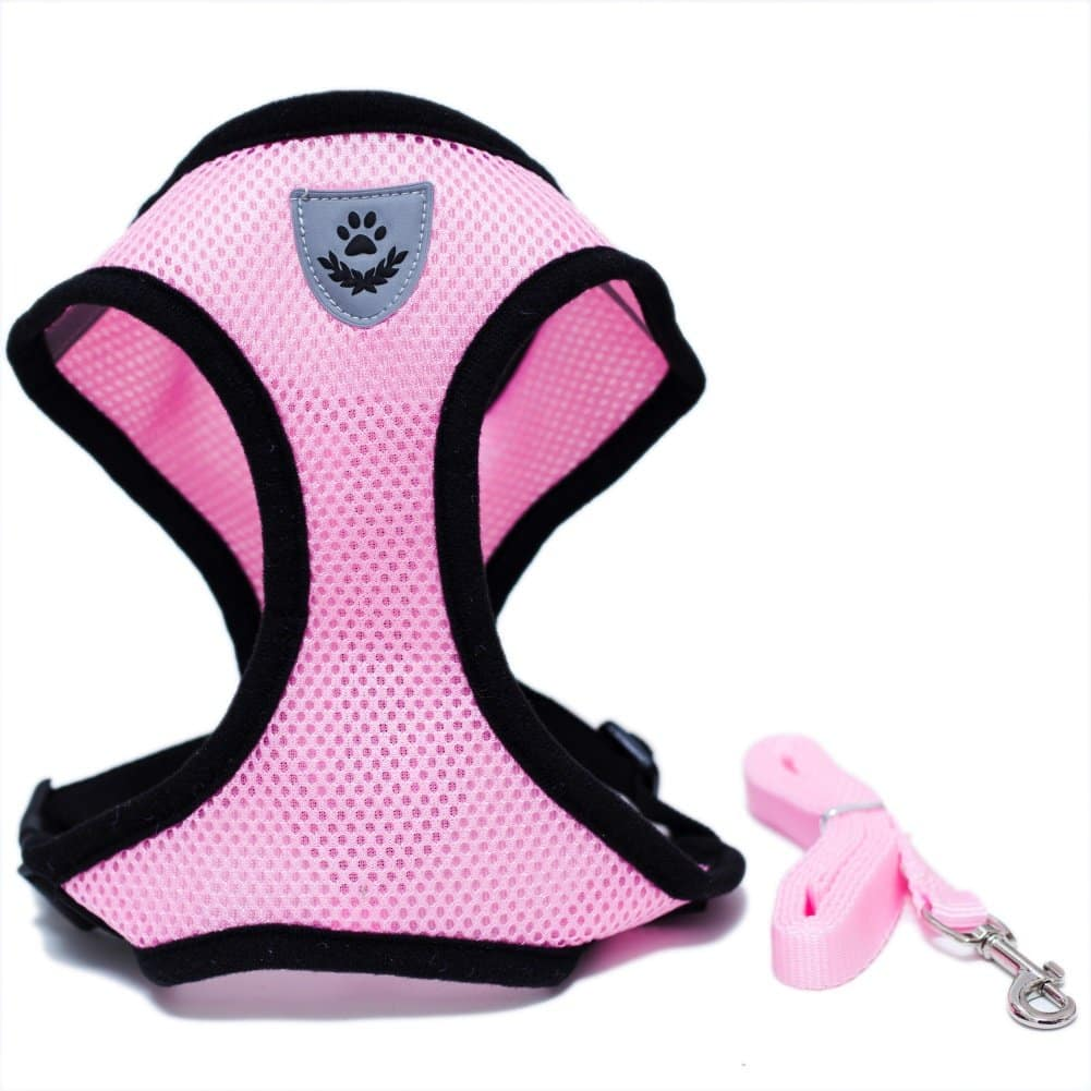 Harnais Grand Chat Ergonomique et Ajustable rose