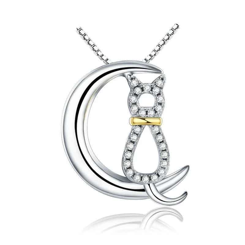 pendentif chat lune