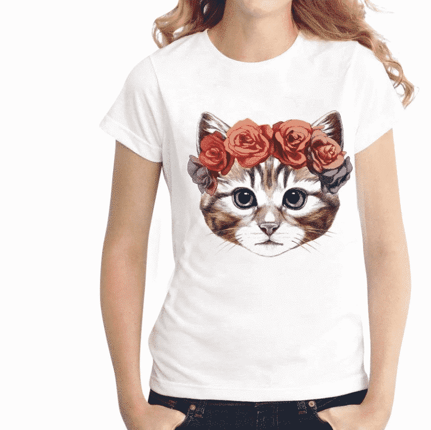 T-shirt chaton d'amour