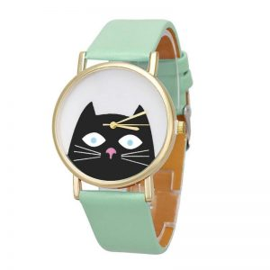 montre chat tic chat tic chat vert